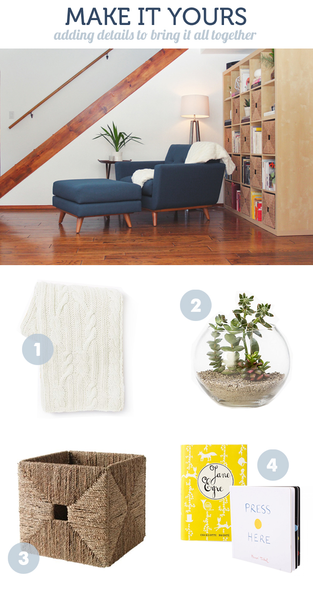 How to create a reading nook - details for adding comfort and personality to your reading space.