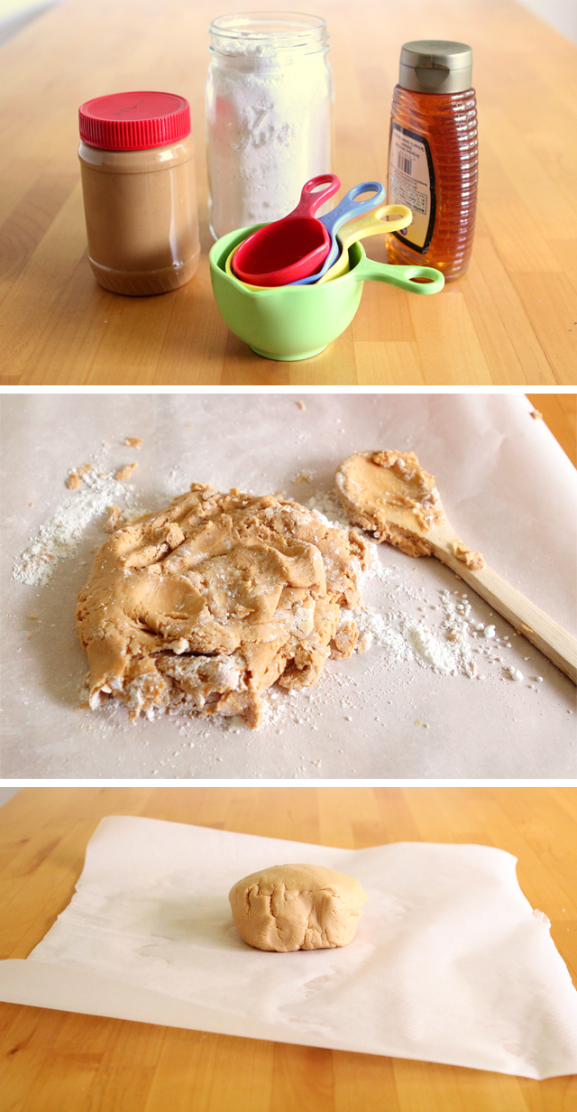 Homemade peanut butter play dough