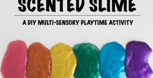 A wonderful at-home multi-sensory activity (the more kids use their senses in play, the better they become at using them to explore their world).