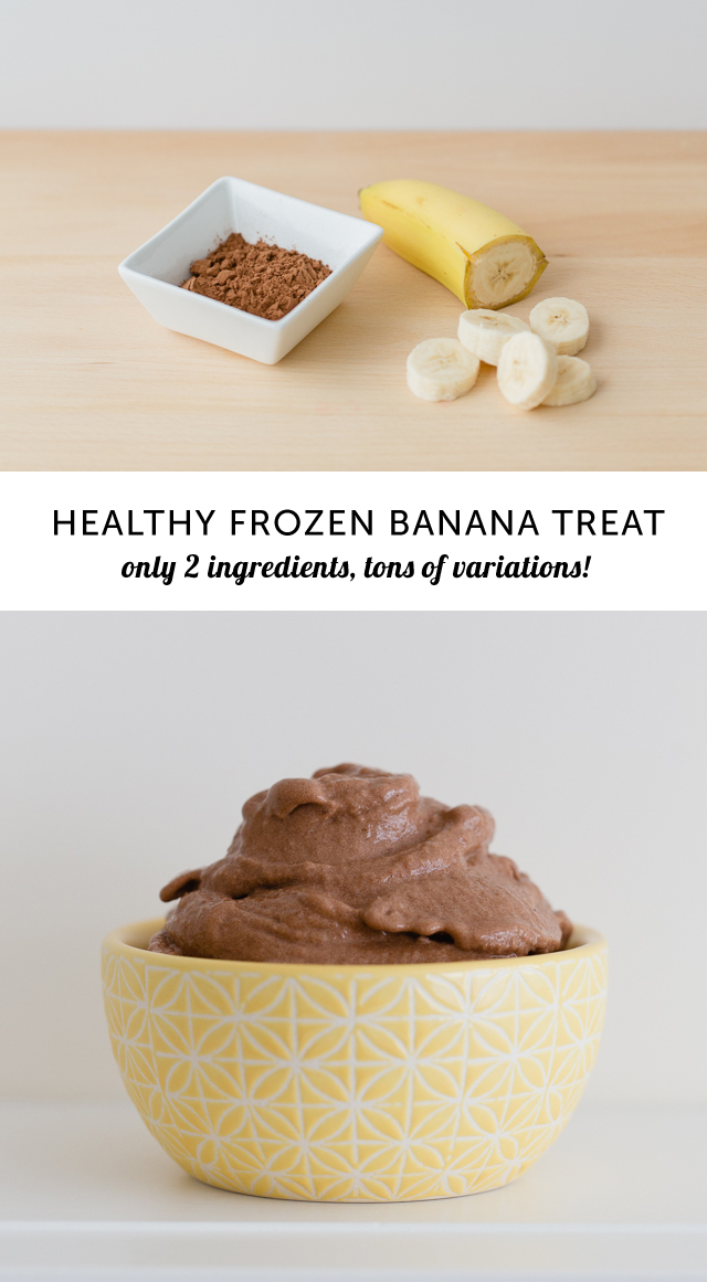 Healthy Homemade Banana Chocolate Ice Cream