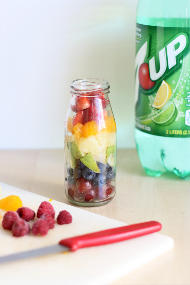 Rainbow fruit soda -- so fun and festive for St. Patrick's Day! Definitely trying this out for my kids.