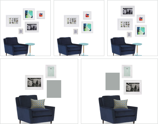 Step-by-step guide on how to arrange art into a gallery wall
