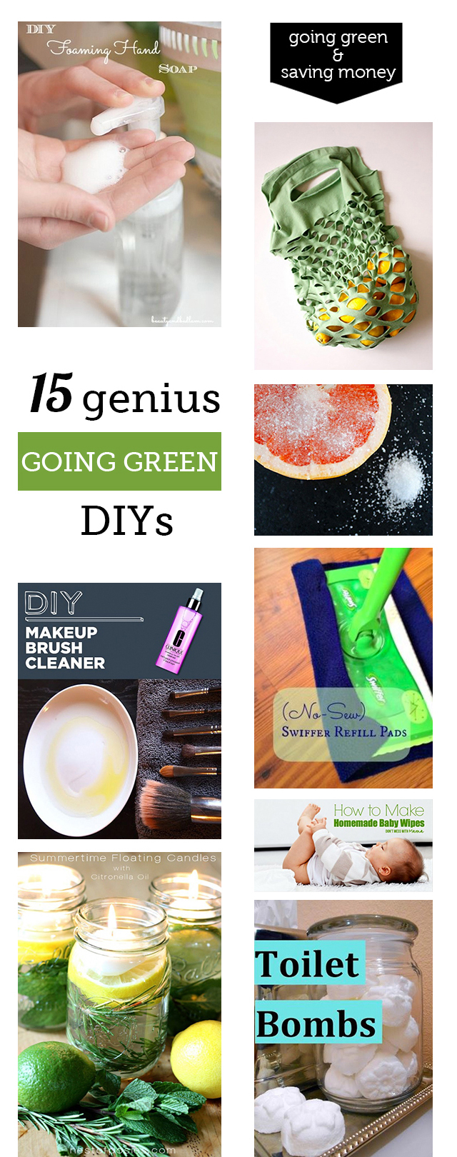 diy green cleaning and beauty projects