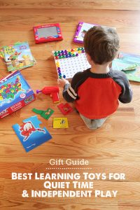 Great list of quiet time toys broken down by age