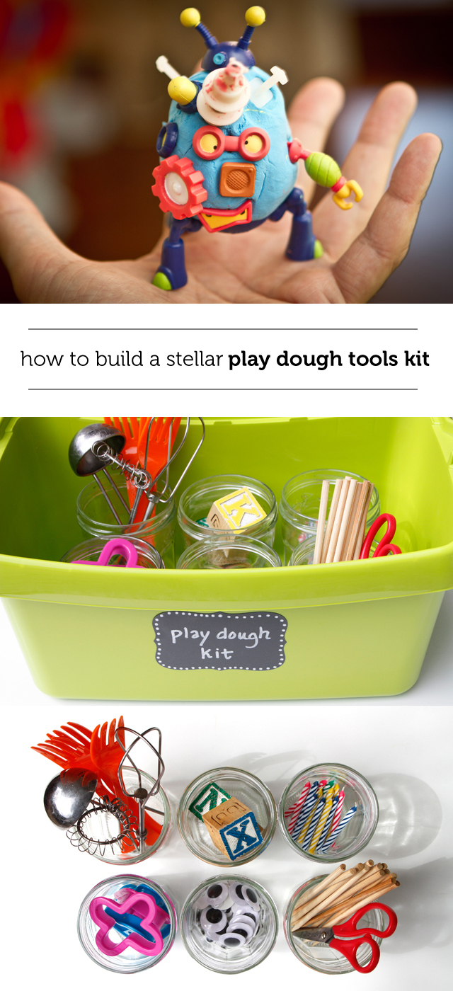 Build your own inexpensive play dough kit to keep the kids busy for hours!