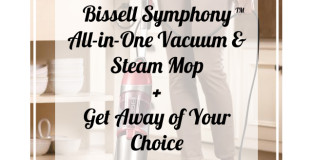 I love this all-in-one vacuum steam mop for picking up my kids' kitchen messes!