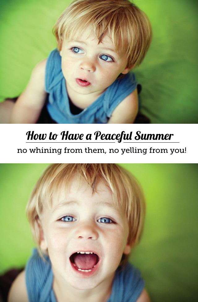 Positive parenting techniques to stop yelling and start having a peaceful summer with the kids!