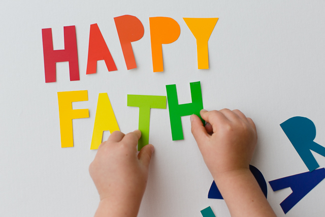 DIY Rainbow Fathers Day Banner