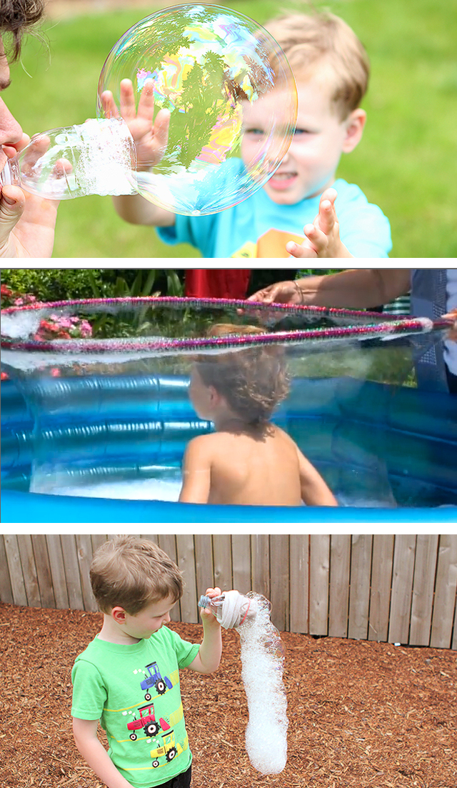 Lots of great ideas on how to amaze the kids with bubbles here!