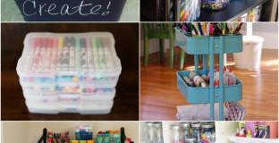 10 Best Ways To Organize Art Supplies