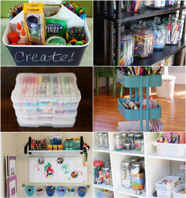 10 best ways to organize art supplies for Craft supplies organization ideas