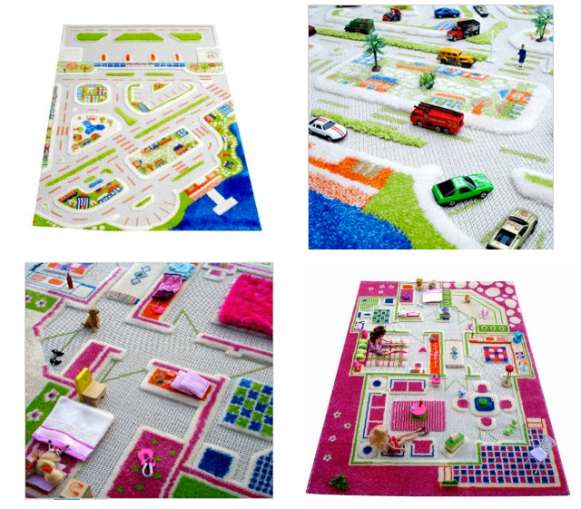 3D Play Rugs - great open ended play AND decor