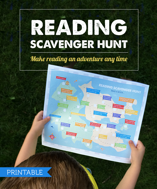 Free Printable: Kids Reading Scavenger Hunt - Perfect for spring and summer breaks. my kids loved checking off all 25 items!