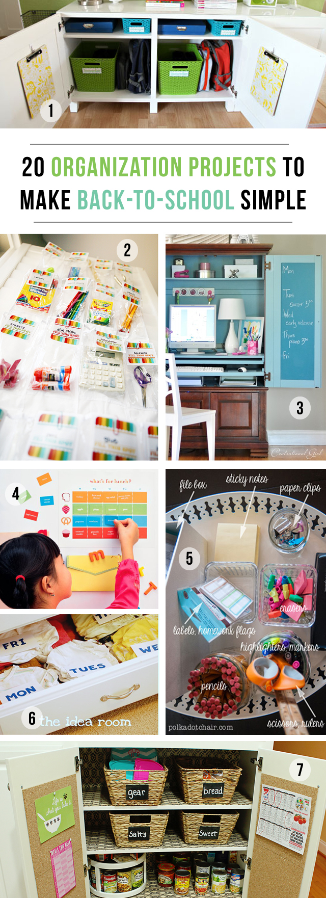 20 back to school organization ideas homework stations and much more - Back to school organization ...
