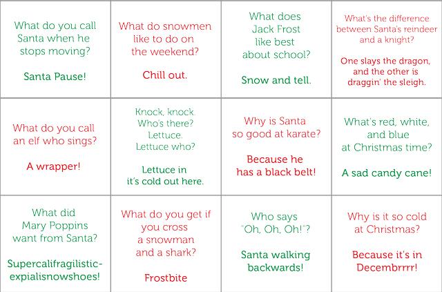 Free printable Christmas joke Advent Calendar - my kids will love this ...