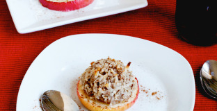 Simple coconut macaroon baked apples - the dessert that's sure to impress this holiday season!