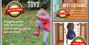 Recommendations on the best toys for getting kids outside, keeping them active inside, and getting them playing games with siblings, the family, or all by themselves - Really excellent lists!