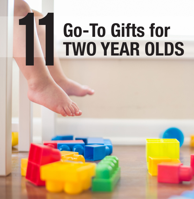 "11 super engaging toys that are my ""go-to"" gifts for two year olds come Christmas or birthdays."