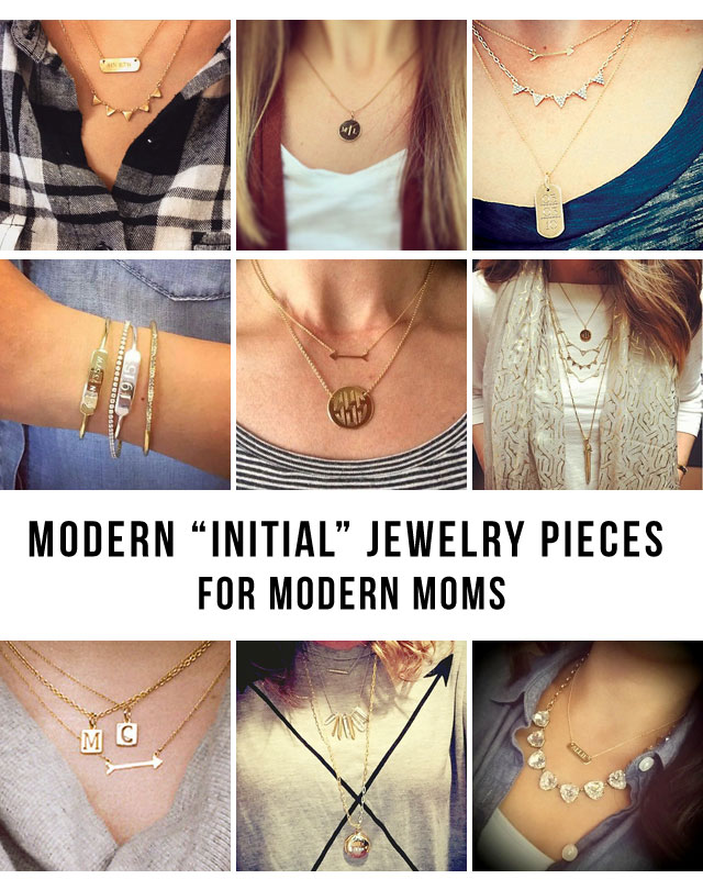 Not your mother's engraved jewelry - today's modern moms are rockin' their kids initials in a very updated way.