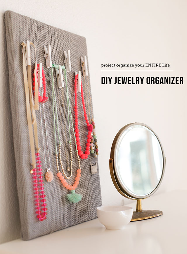 Simple but chic DIY jewelry organizer - I want to fill my closet walls with these!