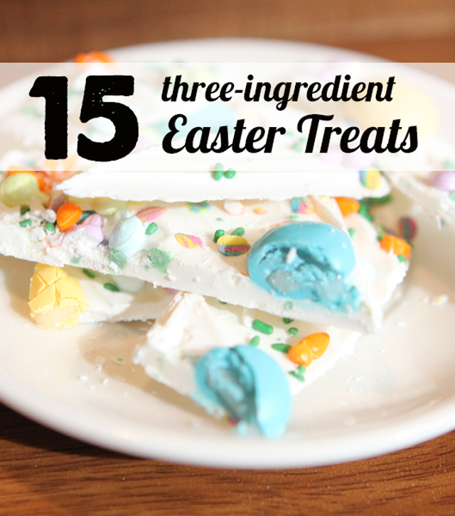 Three ingredient Easter dishes - the homemade Reese's Peanut Butter Eggs look amazing!!