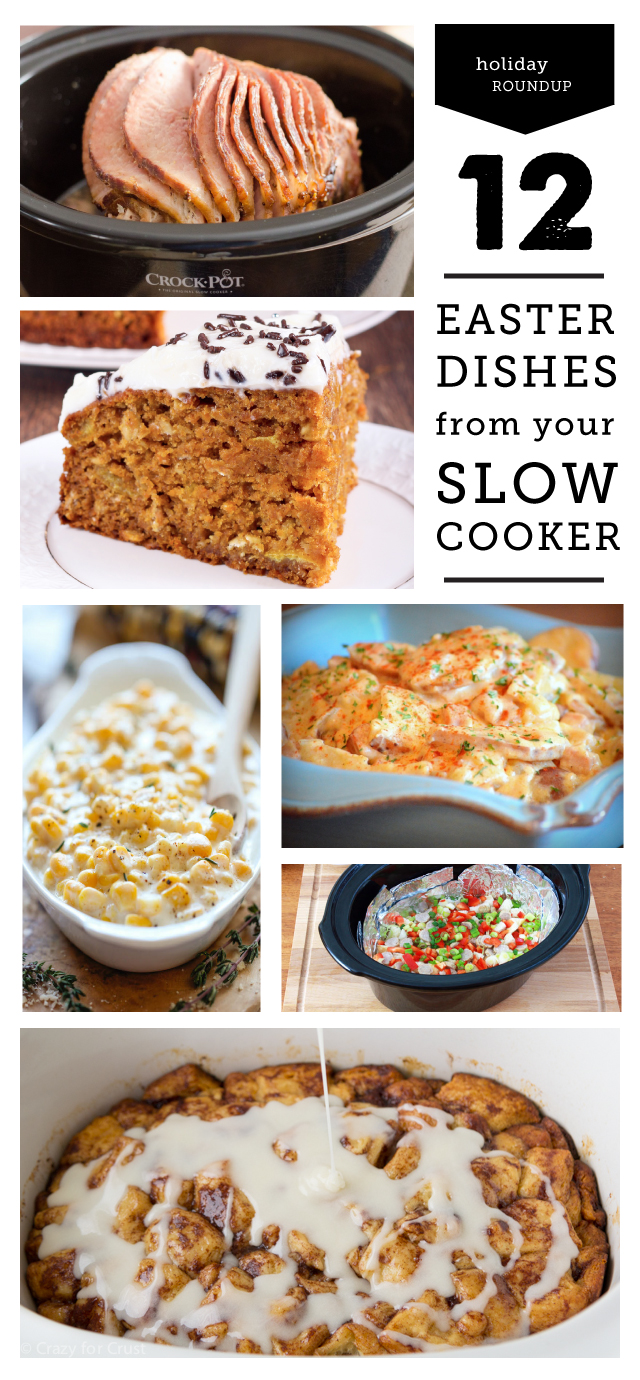 Crock Pot Easter dishes - this is going to make hosting Easter so much easier this year.