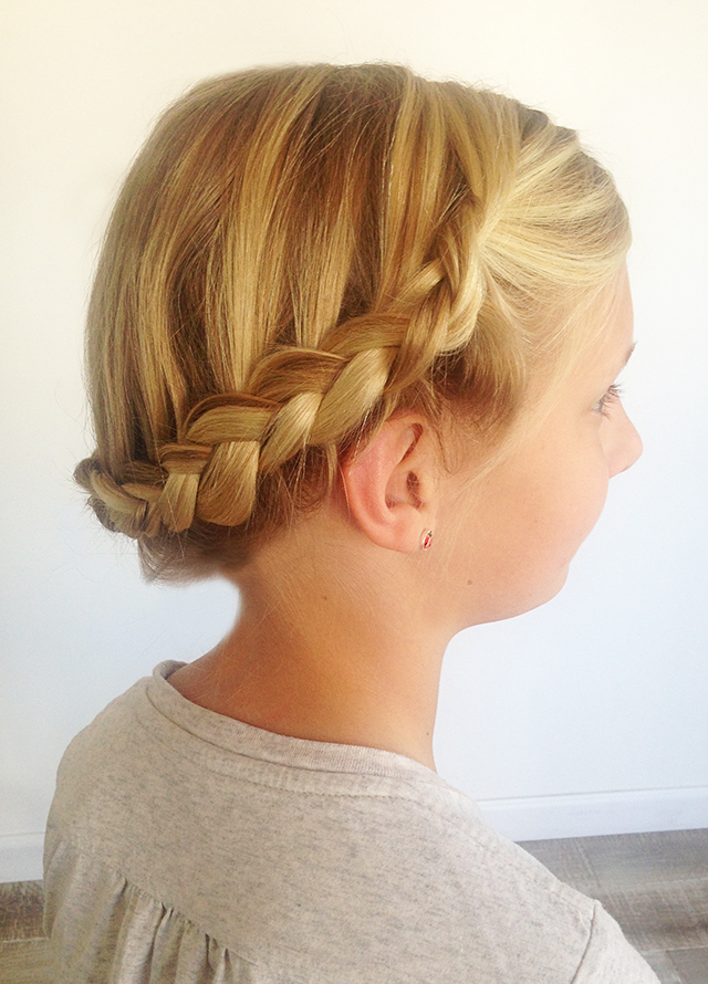 Crown Braid Video Tutorial For Girl S Hair Perfect For