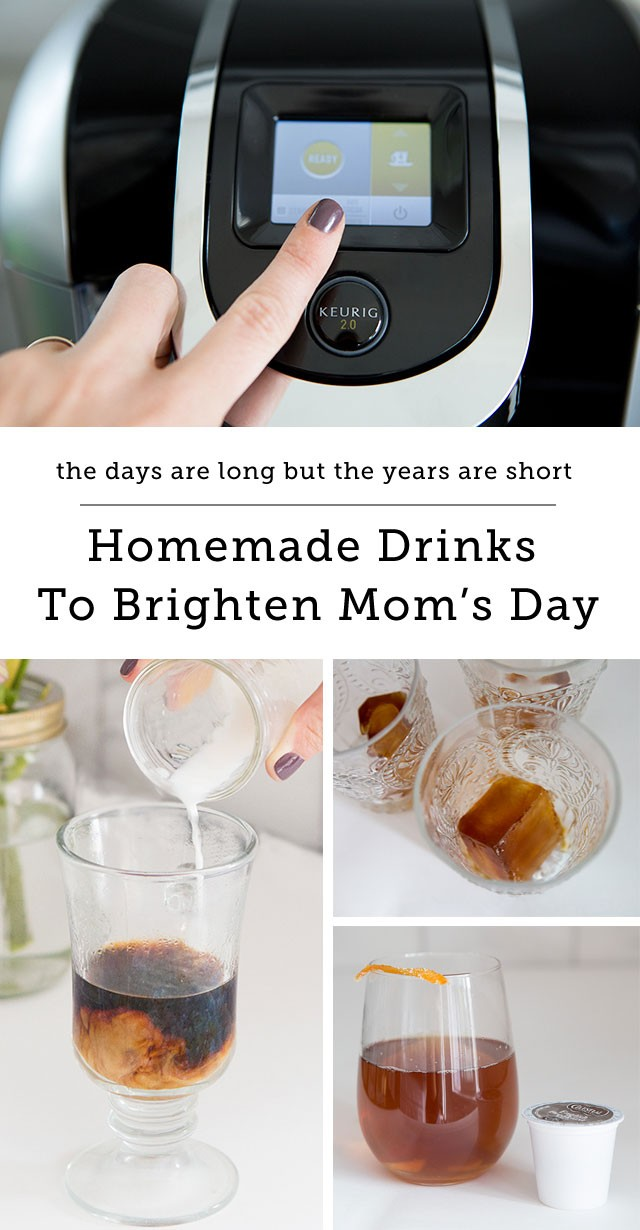 Three delicious new drinks to brighten your day that you can make at home! I love the idea of gifting these recipes along with a new Keurig 2.0 for Mother's Day!