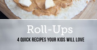 Quick and healthy Roll-up Lunches done 4 ways - these are my kids new favorite. It's amazing how presenting food in a new way makes it interesting again!