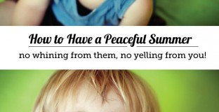Positive parenting techniques to stop yelling and start having a peaceful summer with the kids! - Yes please!!