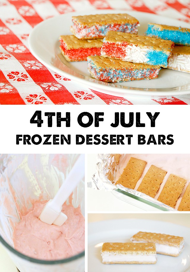 4th of July Frozen Dessert Bars with Hidden Fruit & Veggies - My kids love these!