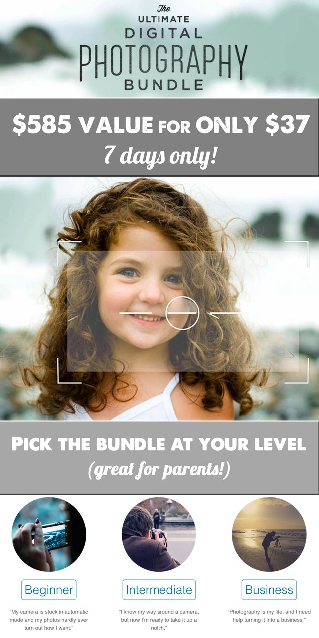 The Ultimate Photography Bundle - These resources changed the way I document my kids, esp. loved the iphone course - can't recommend it enough!