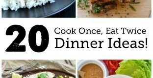 Cook Once Eat Twice Dinner Ideas - Such a great resource for busy weekdays, love cutting out one whole day of cooking!!