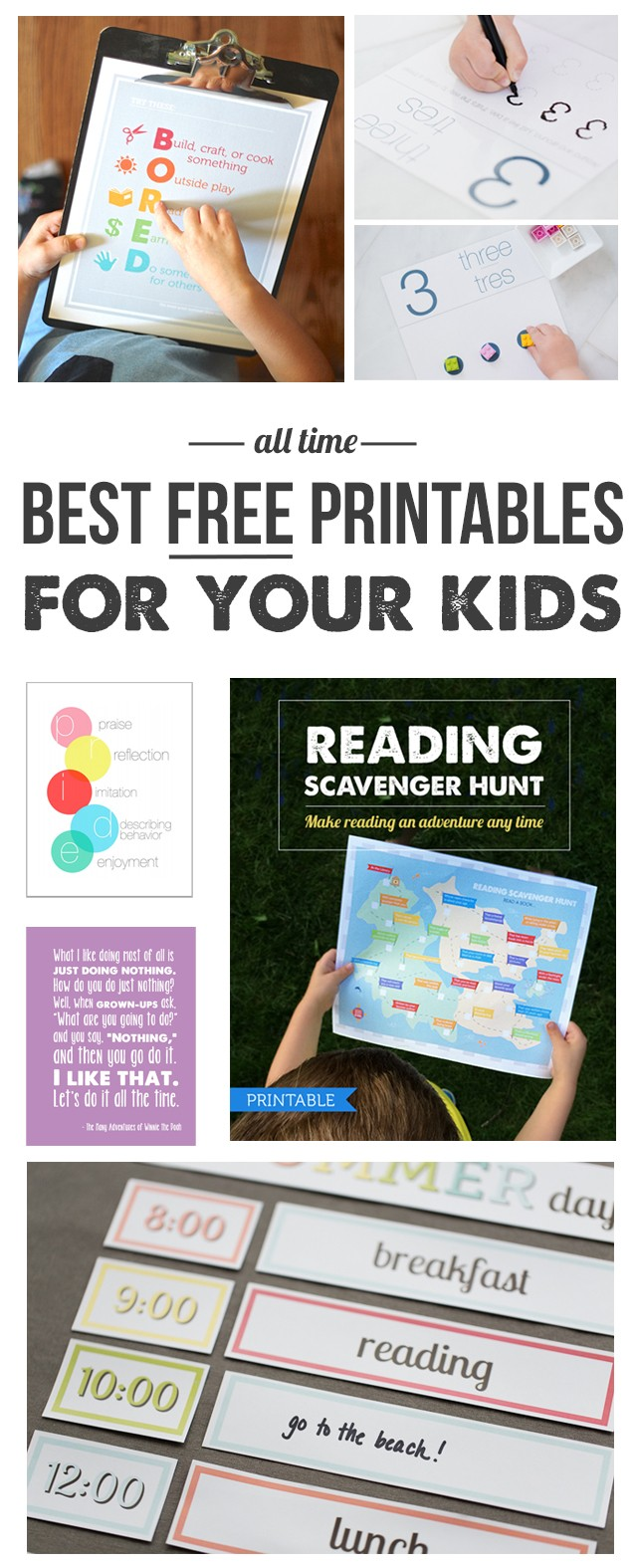 Free Printables for Kids: Love all of these! Especially the knock-knock joke Advent calendar, reading scavenger hunt and kids' drawer organization labels!