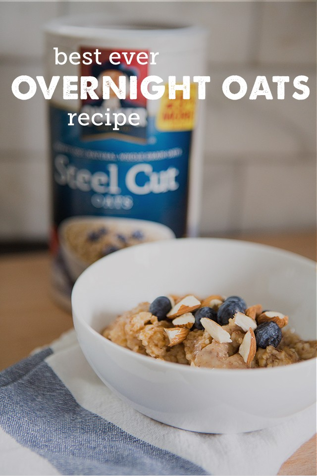 Best Ever Overnight Oats Recipe - My kids love this recipe and I love the tips on how to set up a serve-yourself breakfast bar they can use to make their own breakfast all week long!