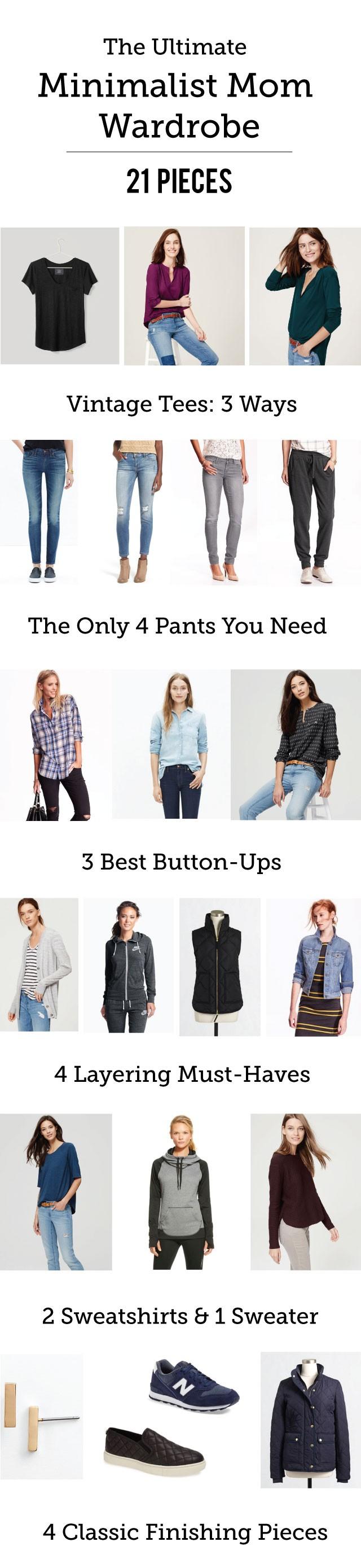 21 piece minimalist mom wardrobe the ultimate capsule for Minimalist house list