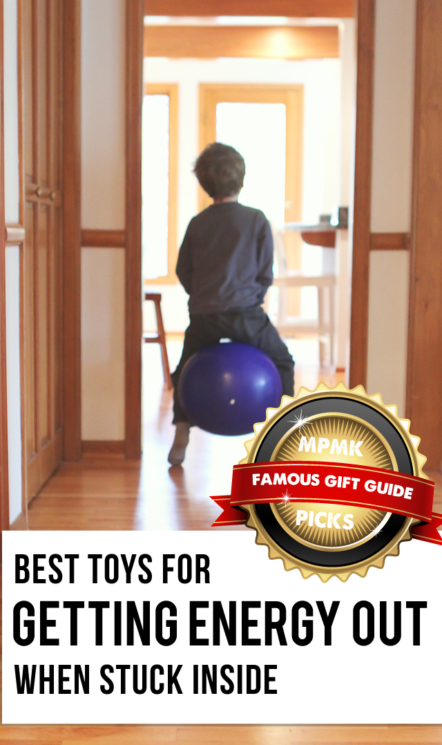 MPMK Toy Gift Guide: Best Active toys for indoors and best outdoor toys. All kinds of great picks to keep the kids moving and love, love the age recommendations and great descriptions of each pick!
