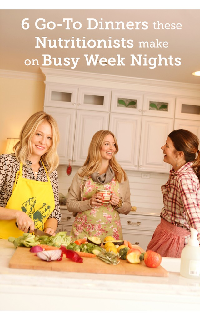 What Nutritionists Actually Eat for Dinner- Great list of quick and easy healthy dinner options!