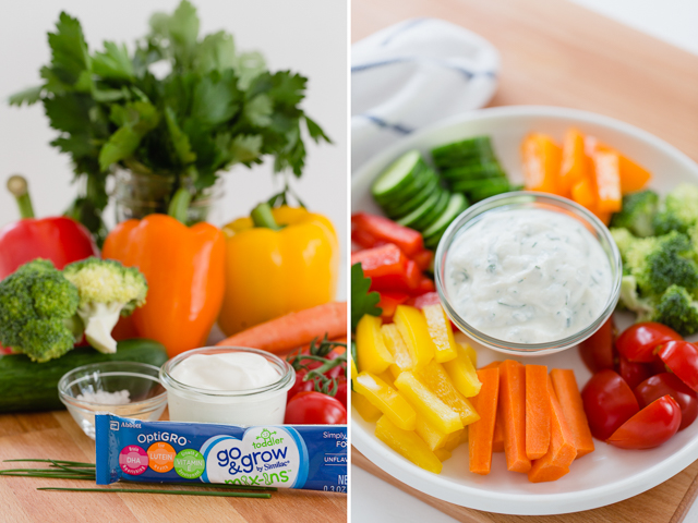 Toddler-Approved Veggies and Dip with Similac